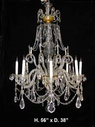 impressive 19c english george iii style finely cut crystal 8 light chandelier 1