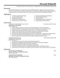 Admissions Coordinatorample Job Description Housing Cover Letter