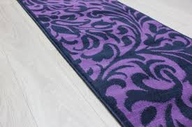 picture of element warwick black purple fl runner rug