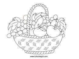 Cesto Con Frutta Da Colorare Fiori Intaglio Frutta Colori E Ceste