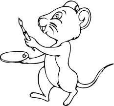 Mouse Will Paint Coloring Page Free Printable Coloring Pages
