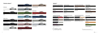 Official Taycan Color Chart With New Paint Options Porsche
