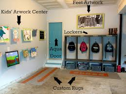 custom painted runner rugs garage mudroom makeover