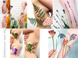 ботаническая татуировка Herbal Tattoos Body Modification Ezine Blog