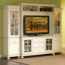 ... Built In Dining Room Cabinets Classic Style White Wooden Tv Cabinet  With Small Doors Underneath Recessed ...