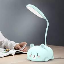 Đèn học hình gấu đáng yêu - Đèn bàn học sinh kiểu dáng dễ thương - Đèn học
