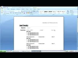 how to create a resume on microsoft word 2007 how to create a resume using microsoft word create resume microsoft