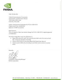 p remote control cover letter cpc declaration letter nvidia  page 1 of p2575 remote control cover letter c2pc declaration letter nvidia corporation