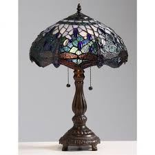 lovely light blue table lamp dimensions about convertable tiffany style 2 light blue dragonfly table lamp 224747 images