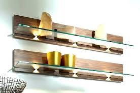 Led Floating Glass Shelves Classy Floating Shelf With Light Illuminated Led Box Shelf Floating Shelf