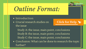 All You Must Know About Literature Review Outline