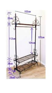 Coat Hanger Storage Rack 100100cm Iron clothing display racks wall hanger holder bedroom 59