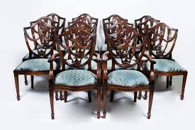 Vintage Set 14 Federal Shield Back Dining Chairs Ref No 07138