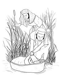 Small Picture Coloring Pages Baby Moses In The River Coloring Pages