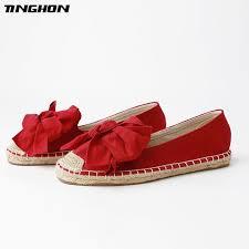 <b>TINGHON Fashion</b> Ethnic Casual Espadrilles Big Bow Flat Women ...