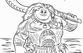 Moana Coloring Pages And Disney Moana Coloring Pages Unique Best