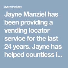 Vending Machine Location Services Delectable Jayne Manziel Has Been Providing A Vending Locator Service For The