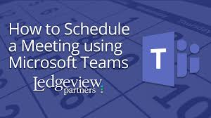 how to schedule a meeting using