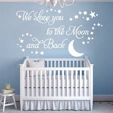 we love you to the moon and back vinyl wall art sticker