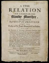 killer reading murder pamphlets in early modern england racan  truerelation
