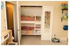 diy closet bunkbed