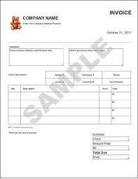 Free Daycare Invoice Template