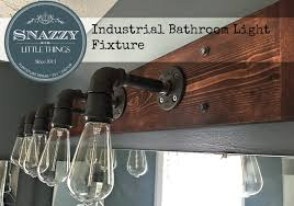 diy bathroom light fixture by snazzylittlethings com