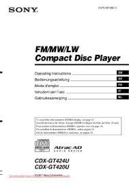 solve sony cdx gt420u problem Sony Cdx Gt5 10 Wiring www caradio manual com sony cdx gt510 wiring instructions
