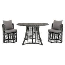 neilina gray 3 piece patio bistro set