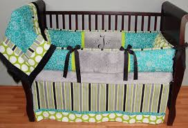 preston teal baby bedding