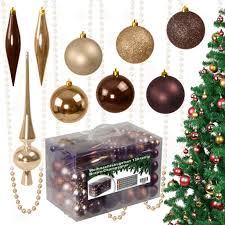130tlg Weihnachtskugeln Christbaumkugeln Real
