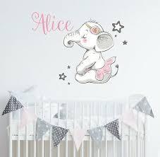 elephant wall decal nursery ballerina