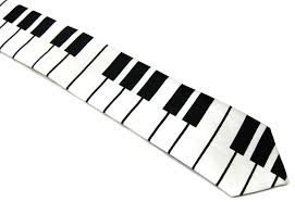 Small Picture Piano Key Keyboard Music Tie Unisex 2 at Amazon Mens Clothing