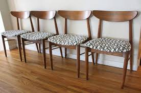 mcm dining chairs geometric pattern 1 mcm curved back chairs with circle seats 1