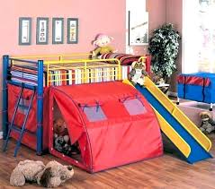 bunk bed with slide and tent. Girls Bunk Beds With Slide Kids Bed Tent Loft And N