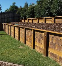 building a timber retaining wall