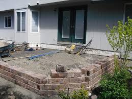 raised paver patio.  Patio Diy Raised Paver Patio Designs With G