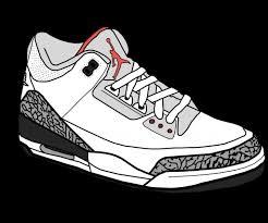 jordans shoes drawings. drawing of jordan shoes nike jordans drawings clipart kid