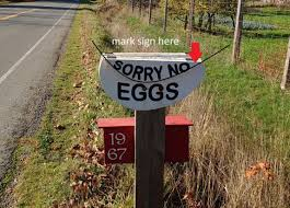 Make A For Sale Sign Diy Egg Sign Five Gallon Ideas
