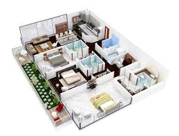Modern Three Bedroom House Plans Insight Of 3 Bedroom 3d Floor Plans In Your House Or Apartment Design