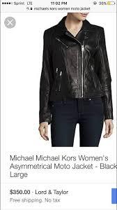 michael kors womens black leather jacket