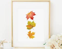 Fall Leaves Printable Fall Decor Fall Wall Art Thanksgiving Decor Fall  Leaves Maple Leaf Print Thanksgiving
