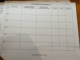 Lewis Structure Worksheets With Answers Solved Period Name Period Lewis Structure Worksheet 3 Na