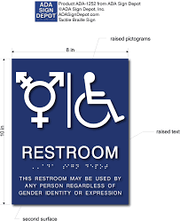 Handicap Bathroom Signs Magnificent TransAll Gender And Wheelchair Symbol Restroom ADA Signs ADA Sign