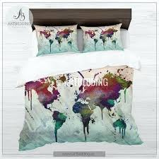 world map bedding map bedding world map abstract splashes duvet cover set bohemian abstract map comforter set world map comforter twin xl