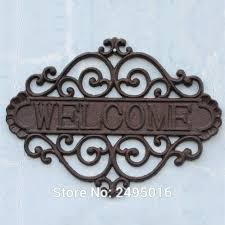cast iron house welcome sings heavy duty metal wall plaque wall hanging sign indoor or exterior