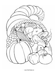 Small Picture Thanksgiving Fruit Basket Coloring Page Free Printable