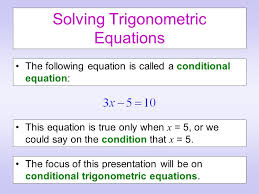 2 solving trigonometric equations