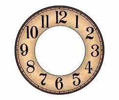 Clock Face Printable Printable Paper Wall Clock Dial