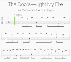 Light My Fire Organ Tab